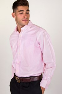 Polo Ralph Lauren Pink Two-Ply Cotton Shirt / Size: 16½ / 33 - Fit: M / L